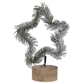 Frosted Pine LED Star