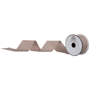 "Taupe Silky Cut Edge Ribbon - 2"""