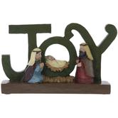 Joy Holy Family Decor