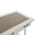 Distressed White Wood Desk