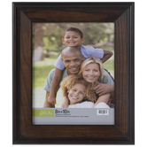 Dark Walnut Beveled Wood Wall Frame