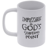 Impossible Is God's Starting Point Mug