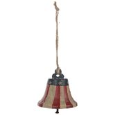 Patriotic Vertical Striped Bell Ornament