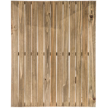 Rectangle Grooved Wood Panel
