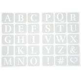 Glasgow Alphabet Adhesive Stencils