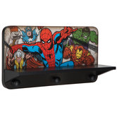 Marvel Superhero Wood Wall Shelf