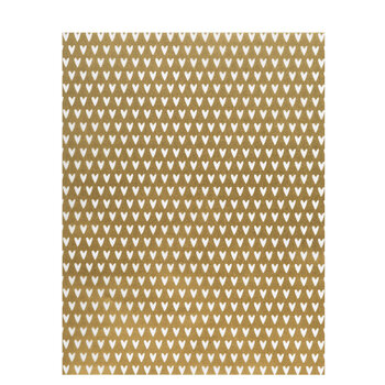 """Gold & White Hearts Vellum Paper - 8 1/2"""" x 11"""""""
