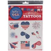 USA Glitter Temporary Tattoos