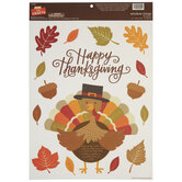 Happy Thanksgiving Window Clings