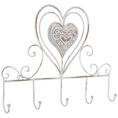 Heart Metal Wall Decor With Hooks