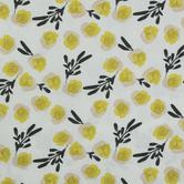 Mustard & Peach Floral Duck Cloth Fabric