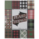 "Plaid Tidings Paper Pack - 8 1/2"" x 11"""