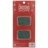 """Green Metal Ornament Hooks - 1 1/2"""""""