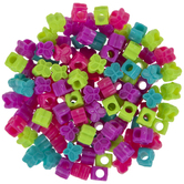 Butterfly Plastic Pony Beads