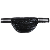 Black Metallic Puff Belt Bag