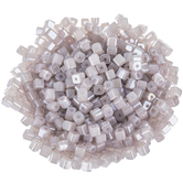 Gray Glass Cube Seed Beads - 3.5mm
