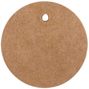 Large Blank Circle Kraft Designer Tags