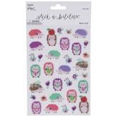 Hedgehogs & Flowers Stickers