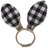 Buffalo Check Bunny Ears Jute Napkin Ring