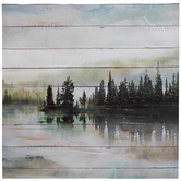 Lake Scene Canvas Wall Decor