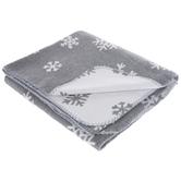 Gray & White Snowflake Throw Blanket