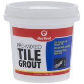 White Pre-Mixed Tile Grout - 8 Ounce