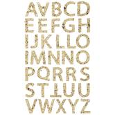 Gold Chunky Glitter Alphabet Stickers