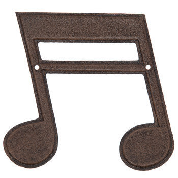 Double Music Note Metal Wall Decor