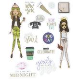 New Year's Girls Stickers