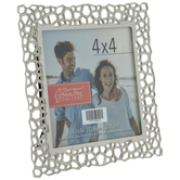 "Geometric Cutout Metal Frame - 4"" x 4"""