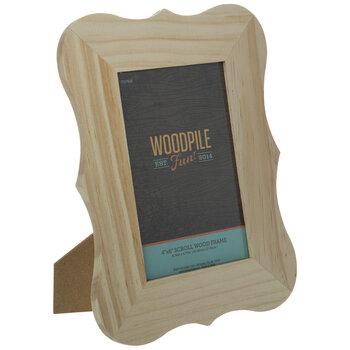 """Scroll Wood Frame - 4"""" x 6"""""""
