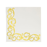 Foil Flourish Napkins - Small