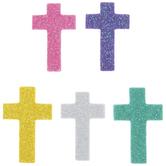 Pastel Glitter Cross Foam Stickers