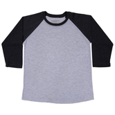 Heather Gray & Black Youth Baseball Shirt - Large