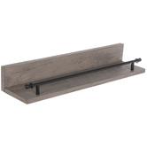 Brown & Black Wood Wall Shelf