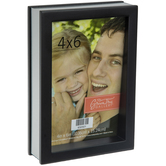 """Black & Silver Contemporary Wood Frame - 4"""" x 6"""""""