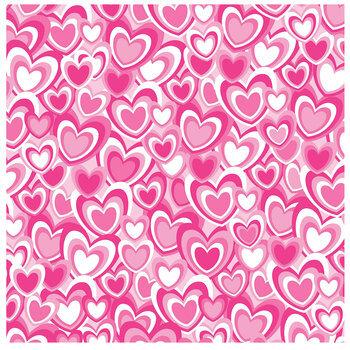 "Pink Hearts Scrapbook Paper - 12"" x 12"""
