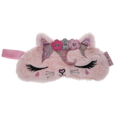 Pink Faux Fur Kitty Sleep Mask