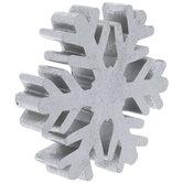 Silver Metallic Snowflake