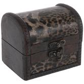 Mini Animal Print Wood Trunk Box