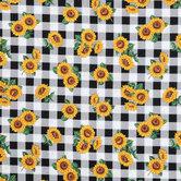 Sunflower Buffalo Check Cotton Calico Fabric