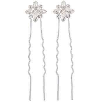 Rhinestone Cluster Hair Pins