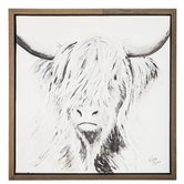Highland Cow Canvas Wall Decor