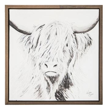Highland Cow Canvas Wall Decor