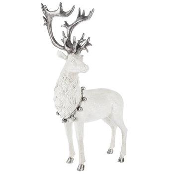 White Glitter & Silver Standing Deer