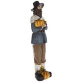Male Pilgrim With Pumpkins