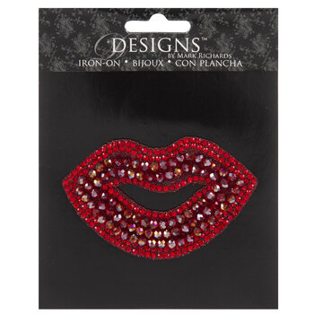 Rhinestone Lips Iron-On Applique