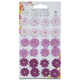Purple Clematis Flower Embellishments