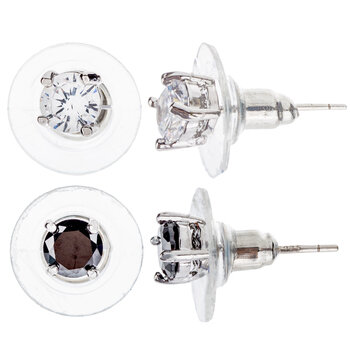 Round Rhinestone Earrings