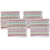 Red & Green Striped Kitchen Towels